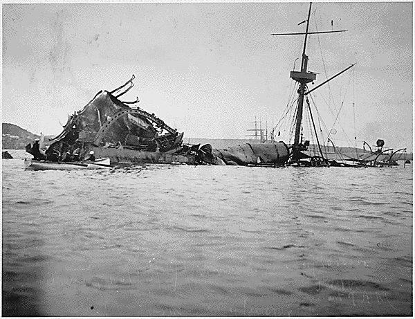 Image result for u.s. battleship maine explodes in havana harbor