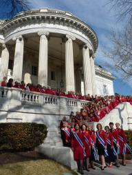 DAR National Board of Management and employees Go Red!