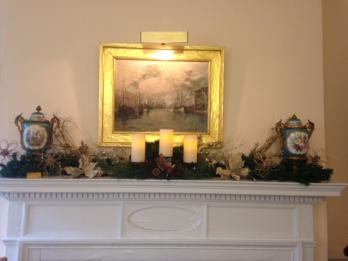 The mantel in the President General's office
