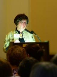 "Author and quilt historian Bunnie Jordan presented at the ""Eye Opening"" symposium in March."