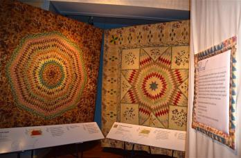 """Two pieced quilts in """"Eye on Elegance"""""""
