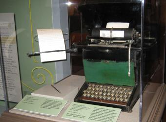 The first practical typewriter from the 1870s.