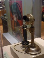 An early telephone in the exhibition