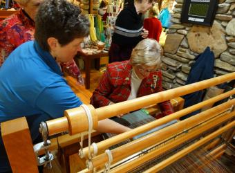 Weaving demonstration at Crossnore School