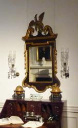This eagle mirror can be found in the Indiana Period Room