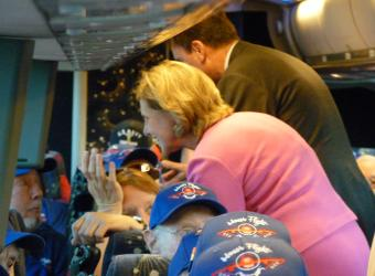 I was honored to go on the bus filled with our American heroes and thank them for their service.