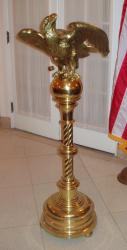 This eagle lectern, which has been used for the past three Inaugural Luncheons, is located in the President General's Assembly Room